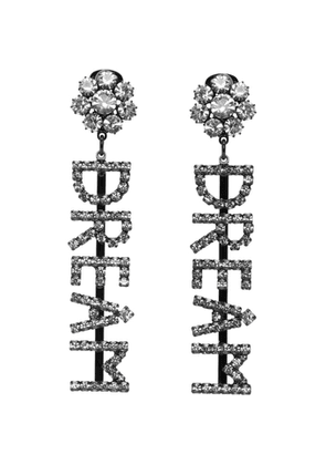 Ashley Williams Black and Transparent Dream Drop Earrings