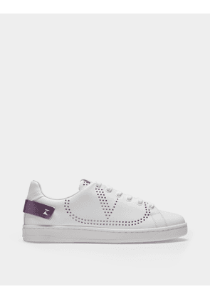 Backnet Sneakers in White and Pink Leather