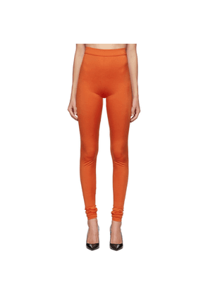 Balmain Orange High-Waisted Leggings