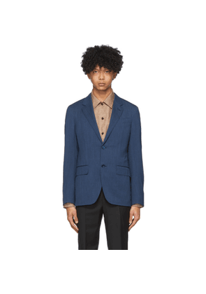 Ermenegildo Zegna Blue Wool and Linen Blazer