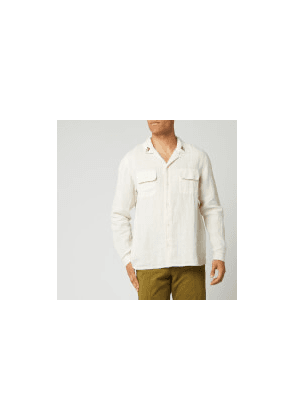 YMC Men's Embroidered Feathers Shirt - Ecru - S