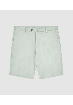 Reiss Wicket - Casual Chino Shorts in Sage, Mens, Size 30