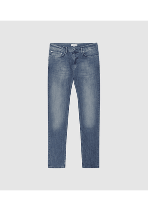 Reiss Pride - Slim Fit Jeans With Stretch in Airforce Blue, Mens, Size 30R