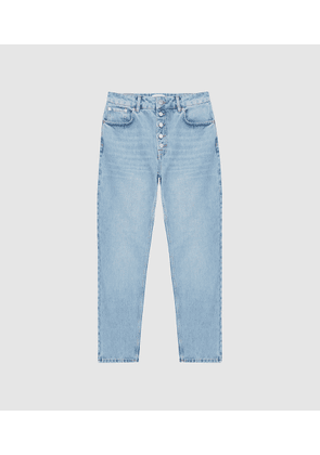 Reiss Lakely - Mid Rise Straight Jeans in Pale Blue, Womens, Size 25