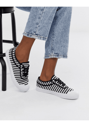 ASOS DESIGN Dependence trainers in black and white stripe-Multi