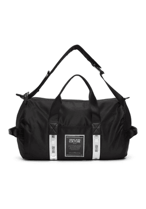 Versace Jeans Couture Black Reflector Tape Gym Bag