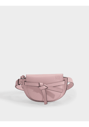 Mini Gate Belt Bag in Pastel Pink Calfskin