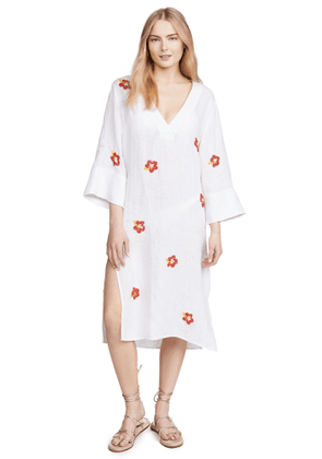 Solid & Striped Beaded Embroidered Cover Up