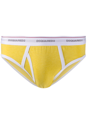 Dsquared2 logo-waistband briefs - Yellow