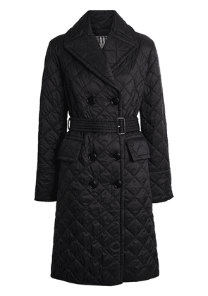 Burberry Lightweight Diamond Quilted Coat - Black