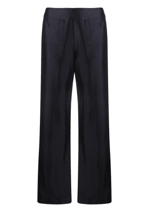 Soulland Asta satin trousers - Blue