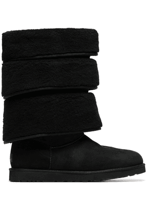 Y/Project x UGG black triple layered shearling boots