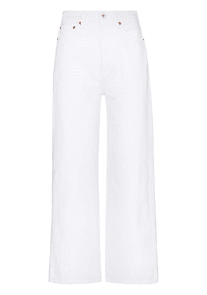 RE/DONE 60s Extreme wide-leg jeans - White