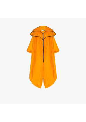 Issey Miyake Womens Yellow Air Cape Long Hooded Cape