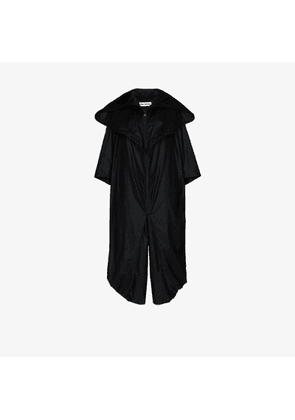 Issey Miyake Womens Black Oversized Hooded Cape-effect Jumpsuit