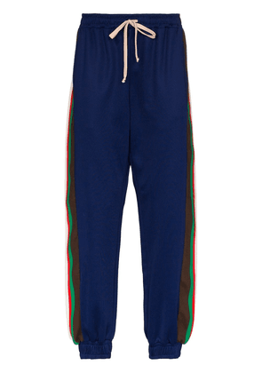 Gucci side stripe sweatpants - Blue
