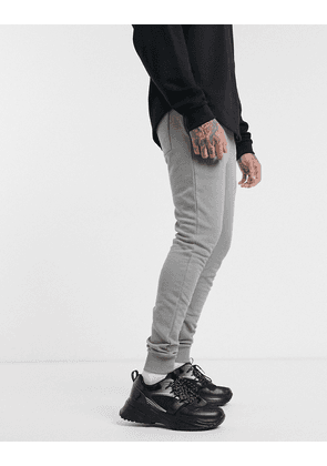 ASOS DESIGN super skinny joggers in grey