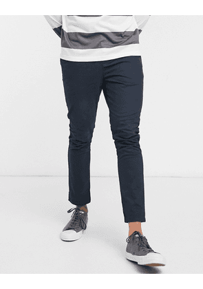 ASOS DESIGN super skinny cropped chinos in navy