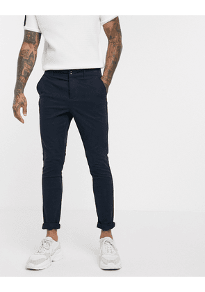 ASOS DESIGN super skinny chinos in navy