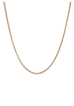 Box chain 18k yellow gold necklace