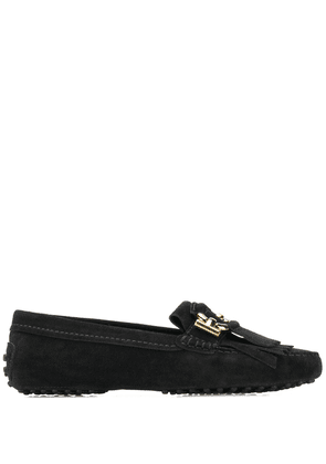 Tod's gommino t-ring loafers - Black