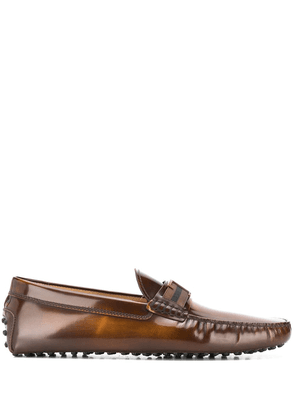 Tod's T logo loafers - Brown