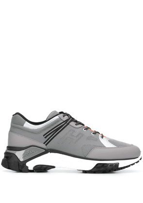 Hogan colour block panelled sneakers - Grey