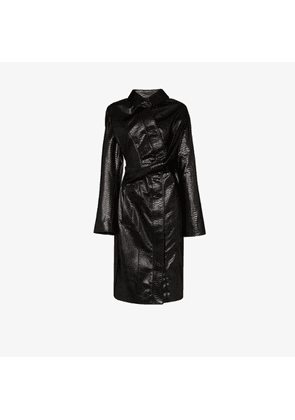 Y/Project faux leather twisted trench coat