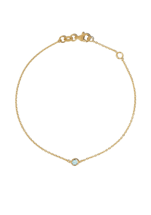 Botier 18kt yellow gold Eyes Wide Shut aquamarine bracelet - 18 CT.