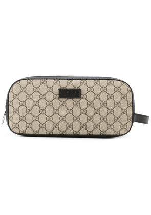 Gucci GG Supreme toiletry case - Brown