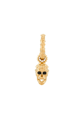 Kasun London skull hoop earring - GOLD