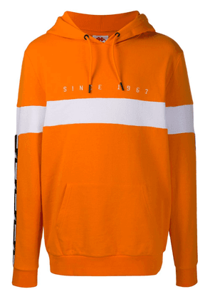 Kappa logo tape hoodie - ORANGE