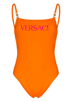 Versace VRSC SSUIT LOGO TEXT W GOLD HRDWR ORNG - ORANGE