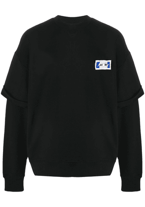 Ader Error layered sleeve sweatshirt - Black