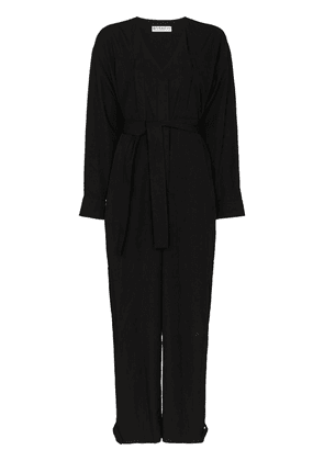 Givenchy GIVENCHY JMPSUIT VN LS WST TIE IN SELF M - Black