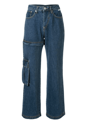 pushBUTTON Transformer Two-Way high-rise jeans - Blue