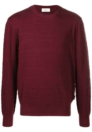 Z Zegna round-neck jumper - Red