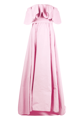 Valentino ruffled off-the-shoulder gown - PINK