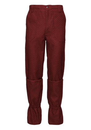Gg Poly & Cotton Jacquard Pants