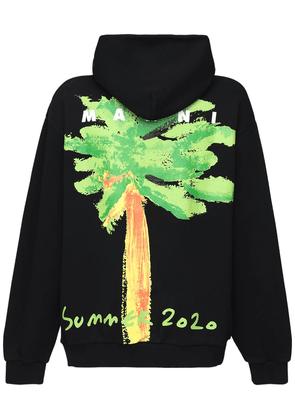 Oversized Printed Cotton Jersey Hoodie