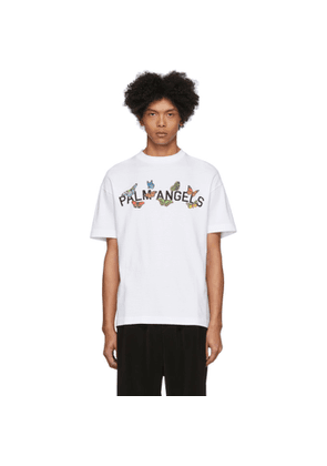 Palm Angels White Butterfly Collage T-Shirt
