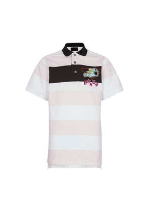 Striped rugby polo shirt