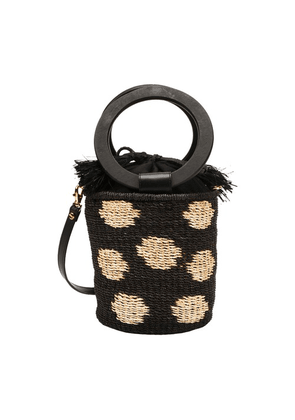 Polka bucket bag