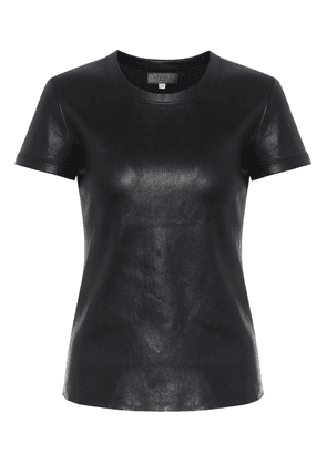 S.05 leather T-shirt