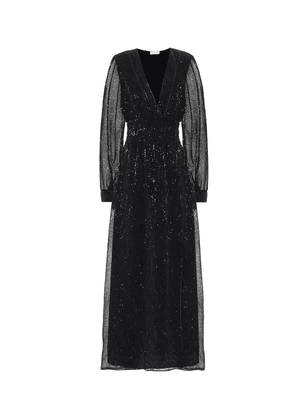 Exclusive to Mytheresa – Sequined satin maxi dress