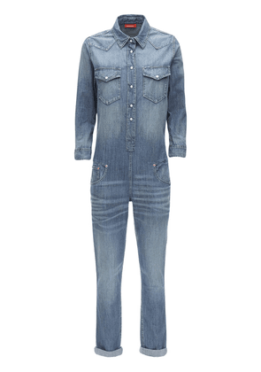Cotton Denim Cowboy Jumpsuit