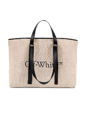 OFF-WHITE Commercial Tote in Beige - Neutral. Size all.