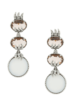 Camila Klein mother of pearl earrings - SILVER
