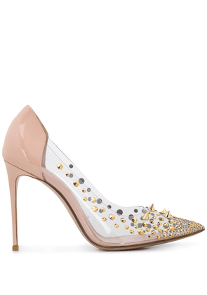 Le Silla studded 100mm pointed pumps - PINK