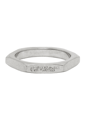 Off-White Silver Small Hexnut Ring